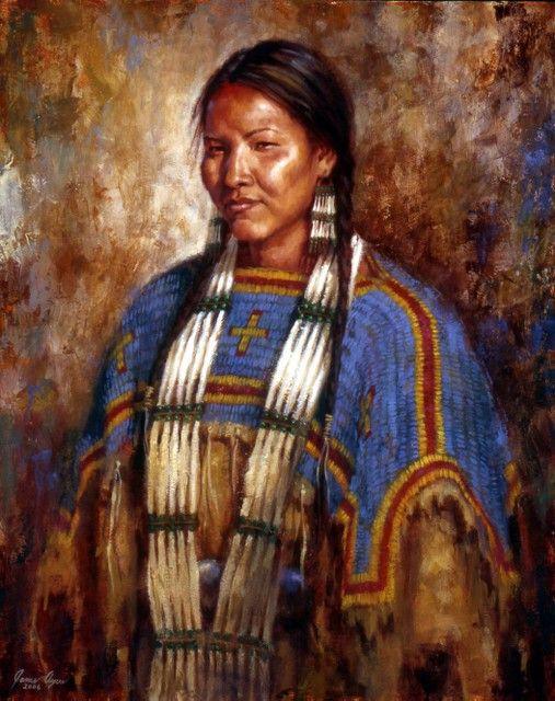 Ceremonial Dress | Lakota painting | James Ayers Studios
