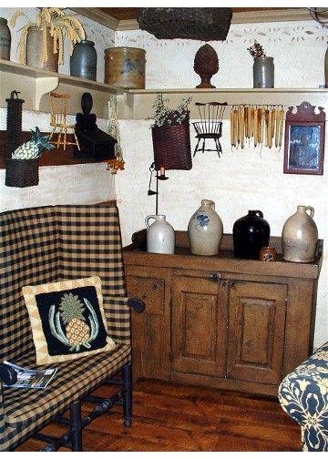Colonial Primitive Living Room Keeping Room Primitive