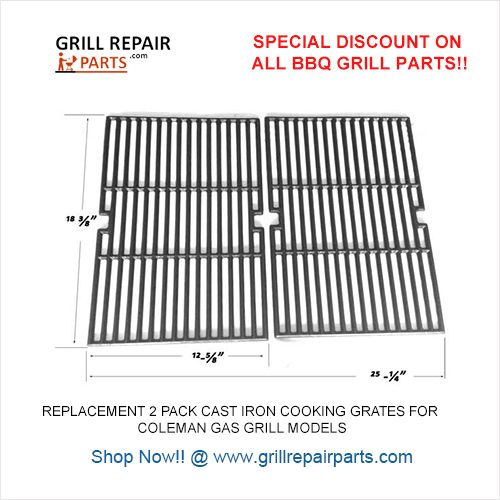 Grill Parts Replacement 2 Pack Cast Iron Cooking Grates For Master Chef G45301 G45302 G45309 Gas Grill Models In 2020 Grill Parts Masterchef Cast Iron Cooking