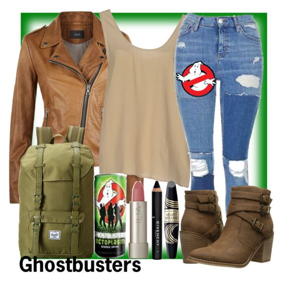 """""""Ghostbusters"""" by geekyandnerdyfashion ❤ liked on Polyvore featuring SET, Equipment, Topshop, Rocket Dog, Herschel Supply Co., Max Factor, Givenchy and Ilia"""