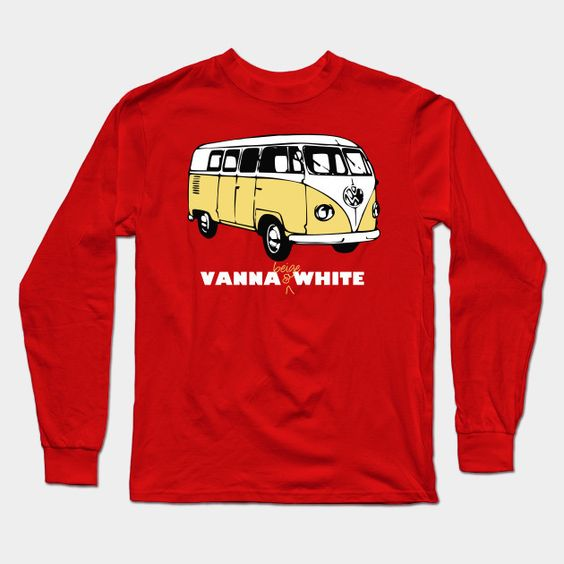 Vanna Beige & White Long Sleeve T-Shirt