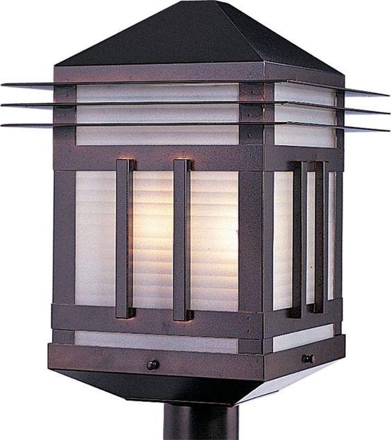 Maxim 8725 Gatsby 2 Light Outdoor Post Light Burnished Outdoor Lighting  Post Lights Post Lights