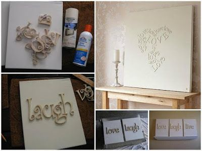 Casa da Rô: 5 quadros para você fazer em casa...