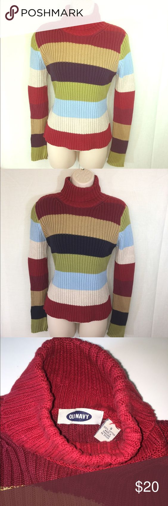 Old Navy Multicolored Sweater-S | Abs, Warm and Old navy