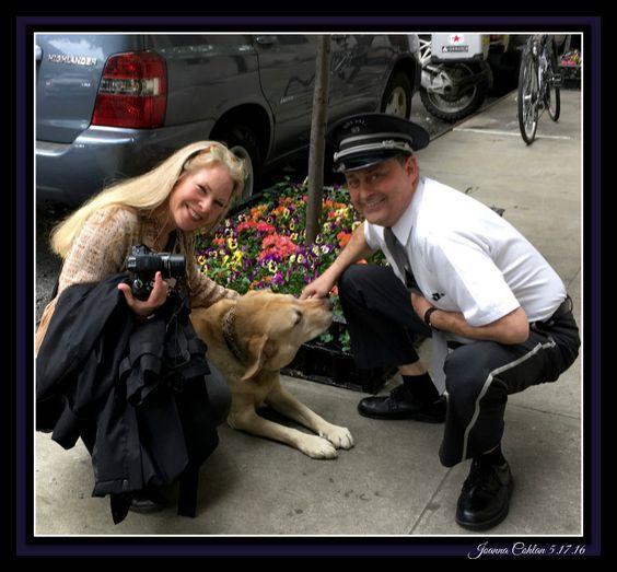NYC Doorman Dog and Me! May 2016