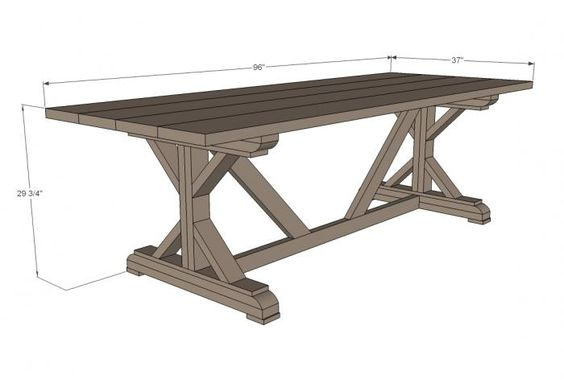 Fancy X Farmhouse Table Ana White Projects Pinterest