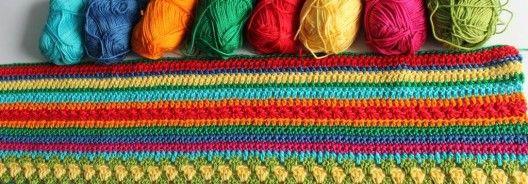 Crochet Along Regenbogen-Babydecke Teil 3