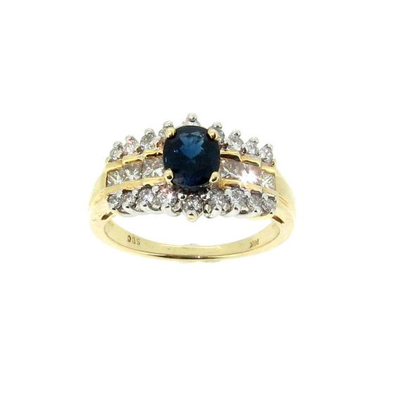 A STEAL 0.65 Carat Blue Sapphire & Diamond by MondiFineJewelry, $650.00