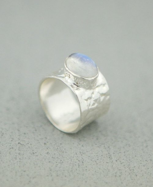 Sterling Silver Textured Moonstone Ring Thailand Moonstone Ring Sterling Silver Silver Engagement Rings Cheap Silver Rings