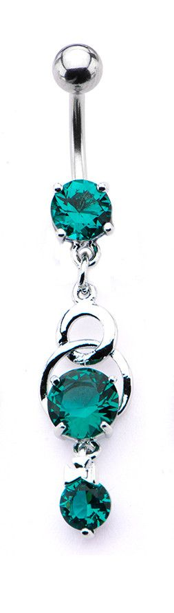 Art Deco Belly Button Ring