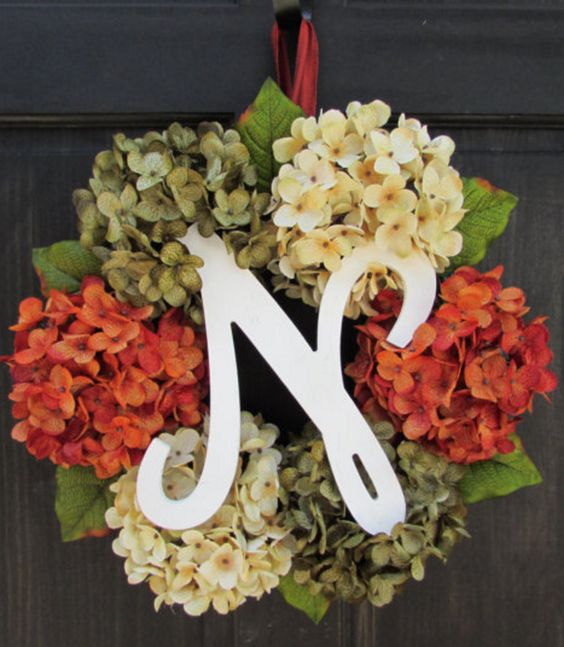 Personalized Fall Wreath