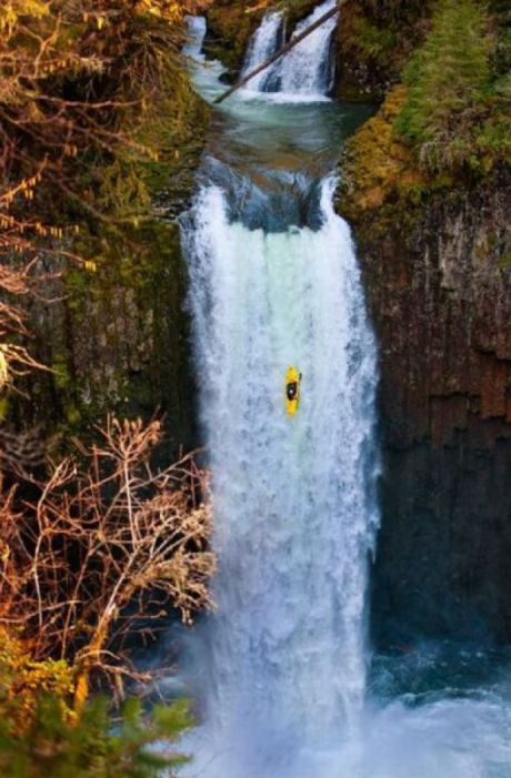 #kayak, waterfall, fall, ouch Like, Repin, Share, Follow Me! Thanks! This wasn't on the map!