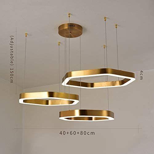 Z L Fflz Chandelier Led Chandeliers Gold Stainless Steel Hang Lamp Living Chandelier Lighting And In 2020 Led Chandelier Ceiling Pendant Lights Hanging Ceiling