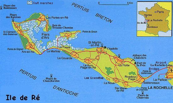 Map Of Ile De Re Map France Places To Travel