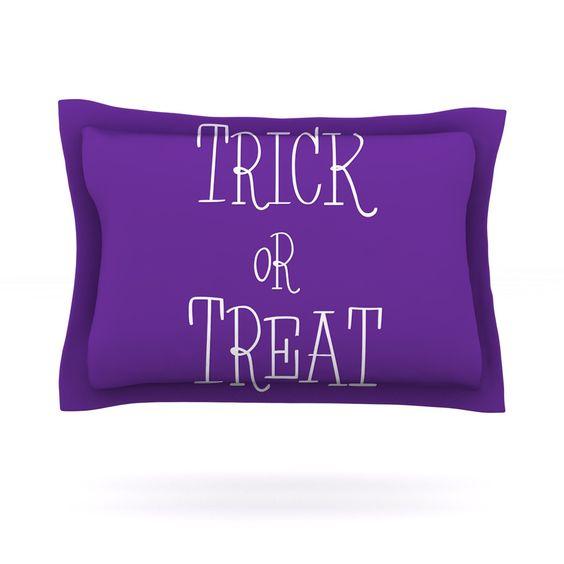 "KESS Original ""Trick or Treat - Purple"" Pillow Sham"