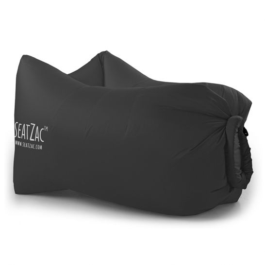 Zitzak Zwart Kind.Seatzac Chill Bag Zitzak Blauw Relatiegeschenken Zitzak Zwart