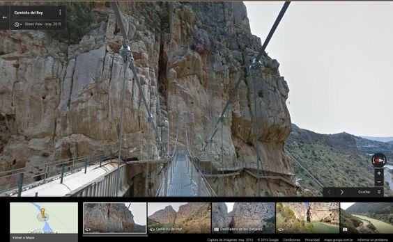 El malagueño Caminito del Rey es inmortalizado en Google Maps