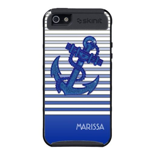 This new nautical Iphone case design I finished this morning was inspired bya great summer day spent in Minnesota out on Lake Minnetonka with Amanda Day and family!  What great memories of a special place and some very loved, very special people :-)  Girly Anchor Nautical Sailing Boat Ombre Stripes Case For iPhone 5