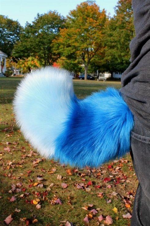Fluffy Solid Fursuit Nub Tails