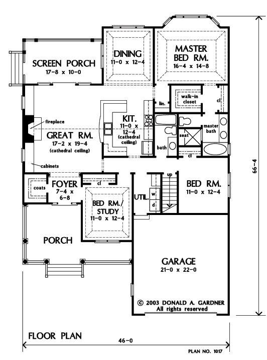 Don gardner jarrell 1727 sq ft house plans pinterest for Don gardner floor plans