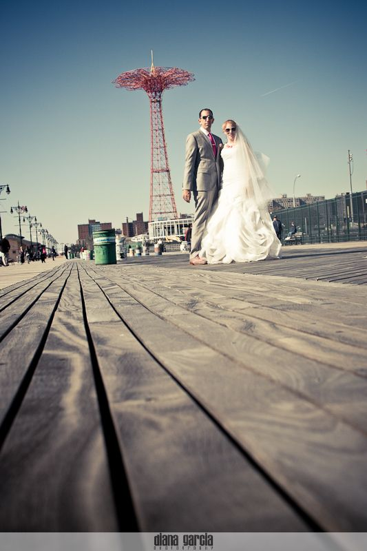Diana Garcia Photography Wedding Coneyisland Pinterest Nyc Islands And