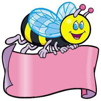 بطاقات رسومات للاطفال بطاقات للتصميم لعالم رياض الاطفال صور ملونة Cartoon Clip Art Bee Activities Heart Picture Frame
