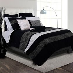 @Overstock - Bring new fashion to your bedroom decor with this stunning Onyx bed in a bag with sheet set. A lovely geometric pattern combines with soft 250 thread count sheets to complete this incredibly bed in a bag set.http://www.overstock.com/Bedding-Bath/Onyx-Full-size-8-piece-Bed-in-a-Bag-with-Sheet-Set/6457733/product.html?CID=214117 $99.99