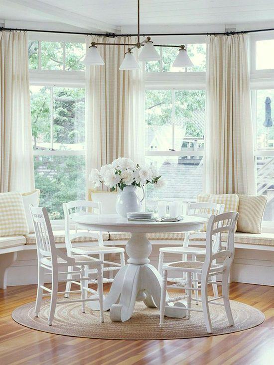 Best Bay Window Treatments Measuring Guide Window Seat Kitchen Breakfast Nook Curtains Kitchen Bay Window
