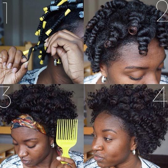 http://www.refinery29.com/easy-natural-hairstyles#slide-3 Ultimate CurlsTransitioning phase: three to six months in At this stage, your hair is still mostly straight, but your natural texture starts to emerge.  If you're interested in recreating this look on your own, head over to Janae Mason's YouTube channel for a step-by-step.