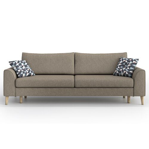 Agnew 3 Seater Fold Out Sofa Bed Brayden Studio Upholstery Colour Light Grey Dark Grey In 2020 Sofa Bed Wayfair Sofa Bed Sofa