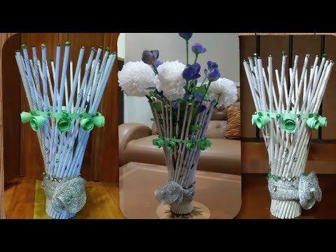 Cara Membuat Vas Bunga Dari Koran Bekas Diy Best Of Waste Paper