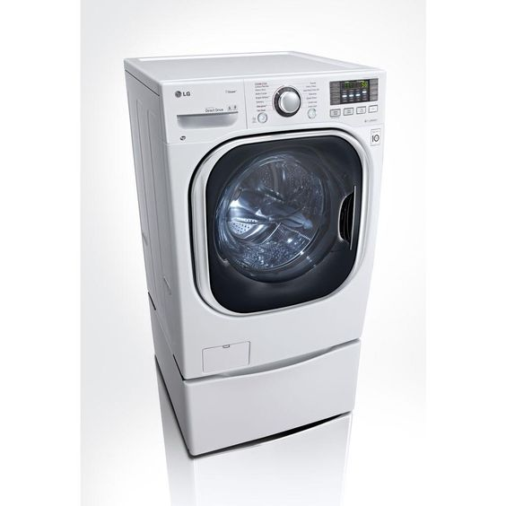 LG Electronics 4.3 DOE cu. ft. High-Efficiency All-in-One Washer and Electric Ventless Dryer in White-WM3997HWA - The Home Depot