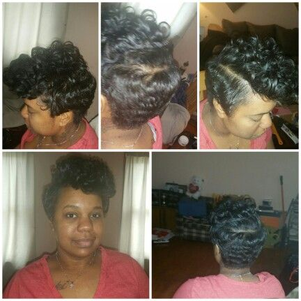 Cut style with curls