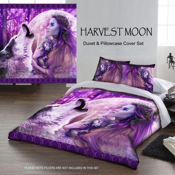 Harvest Moon Child Gothic Wolf Double Duvet Set