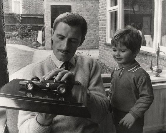 Graham Hill | Graham Hill with his future successfull son Damon Hill... teaching :)