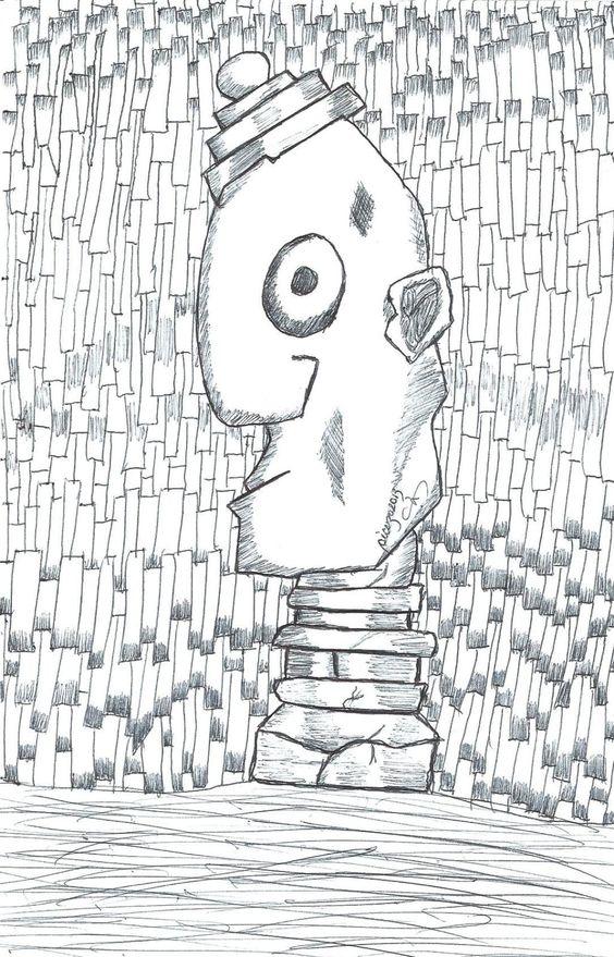 """Dibujo de mi serie """"Paroidelia"""" que acompaña mi cuento """"A mandíbula batiente"""" de la serie """"Onirosofía en La hormega. http://hormega.wordpress.com/2013/10/03/onirosofia-41/"""