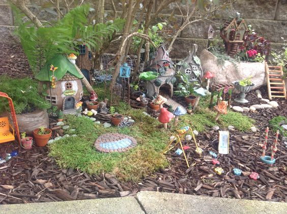 Added a playground to the fairy garden