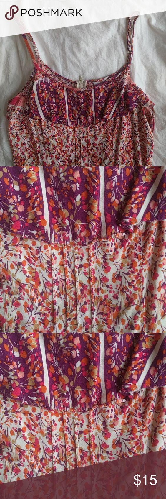 Floral sundress dress Purple and orange floral sundress Xhilaration Dresses Mini