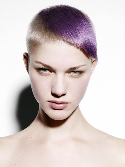 images of hair styles for haircut with chunky purple highlight hair 6759