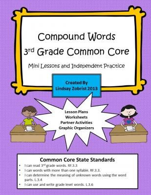 Printables Common Core Practice Worksheets compound words 3rd grade common core practice worksheets from corner on teachersnotebook