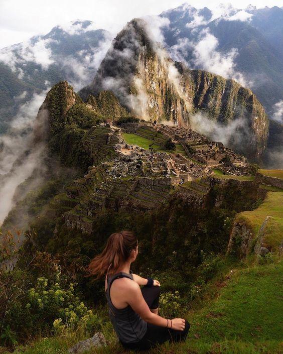 Recargando energía en Machu Picchu
