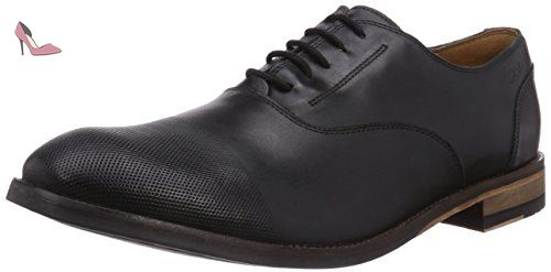 Clarks Flexton Plain black leather Men's Business shoes, tamaño de zapato:EUR 42.5