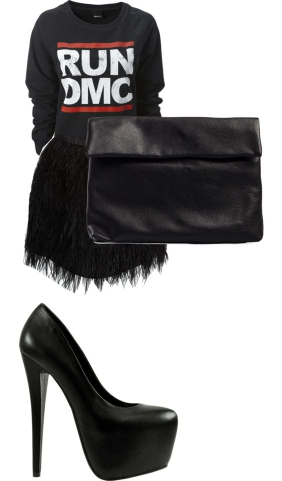 """""""run dmc"""" by leawa ❤ liked on Polyvore"""