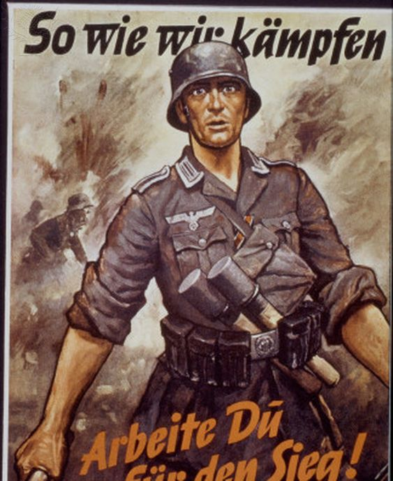 WWII: GERMAN POSTER. - 'Work for Victory As We fight for ...