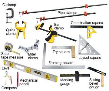 List of Basic Woodworking Hand Tools http://www.woodesigner.net