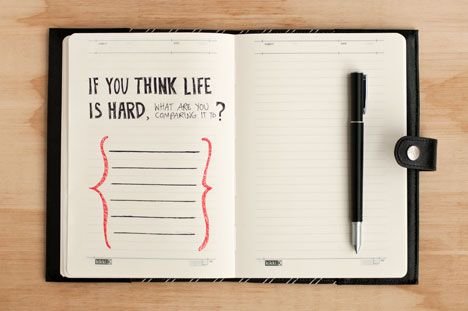 Journaling Prompt #157 If you think life is hard, what are you comparing it to?