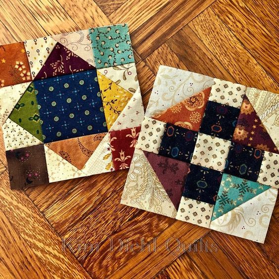 Little nibbles and bits, and the last sampler quilt blocks! Getting close to the finish line now... #KimDiehlQuilts #SamplerQuilts #SimplePatchwork #PiecingProgress #HenryGlassFabrics