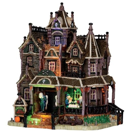 Lemax Spooky Town Black Cauldron Bootique with Adaptor # 05005