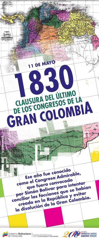 @FEdumedia : #Efeméride En 1830 se realizó la clausura del último de los Congresos de la Gran Colombia https://t.co/joFSHnsFl2