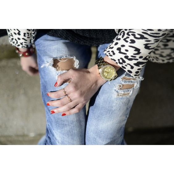 wearing ripped jeans Lovely Pepa ❤ liked on Polyvore